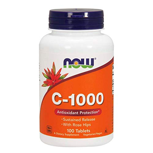 Vitamina C 1g C-1000 Com Rose Hips 25mg 100 TABS Now Foods