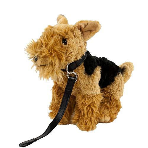 Teddys Rothenburg Kuscheltier Welsh Terrier stehend braun/schwarz 25 cm Plüschhund