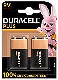 Duracell - Piles 9V Plus, paquet de 2