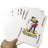 54 Stück Jumbo Spielkarten Pokerkarten Spielthema Fantastische Übergroße für spaßige und...