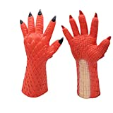 Miaoao Games Dlablo 3 Boss Demon Belial Mask,Cosplay Boss Belial Latex Masks Gloves Halloween Carnival Party Costume Props (Color : Glove)