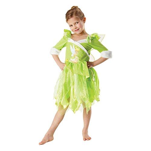 NET TOYS Costume da fatina Trilly/Campanellino amica di Peter Pan firmato Disney - S 4-5 anni