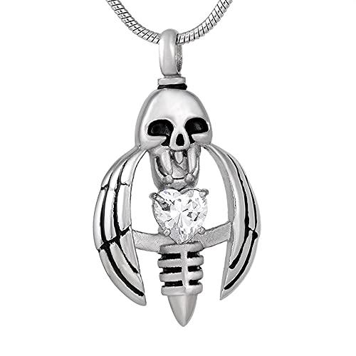QQJJSUDIW Cremación Recuerdo Collar Ashes Jewelry