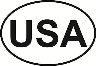 USA Euro Oval Bumper Sticker