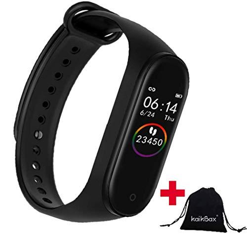 BoBoLing Black Smart Watch - Fitness Tracker with Heart Rate Monitor - Waterproof Smart Bracelet - Pedometer Smart Wristbands Bracelet for Women Men Kids Best QualityShop