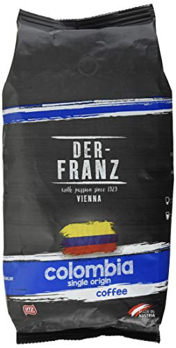 Der-Franz Columbia Single Origin Kaffee UTZ, ganze Bohne, 1000 g