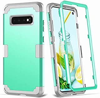 3 in 1 Hybrid Silicone Rubber Hard Plastic Bumper Shockproof Protective Phone Case Cover for Samsung Galaxy S10 Plus