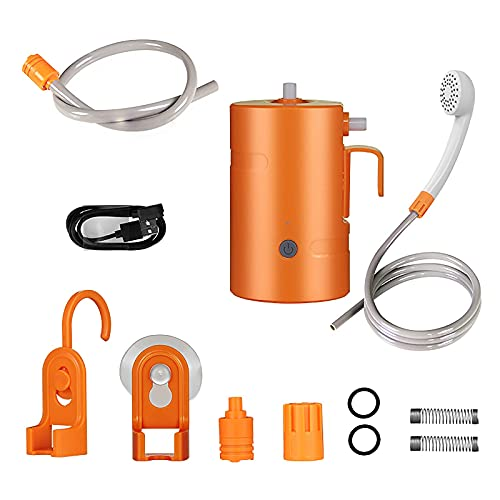 YQG Ducha portátil al Aire Libre, Ducha para Acampar, 2 Modos de Flujo, Ducha con batería USB de 4400 mAh, IPX7 a Prueba de Agua, para Campamento Familiar/Senderismo/mochilero