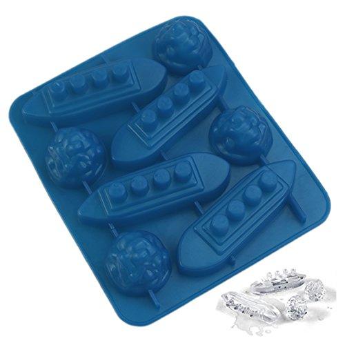 Cuigu stampo per cubetti di ghiaccio in silicone a forma di scultura della muffa Titanic per party Drinks
