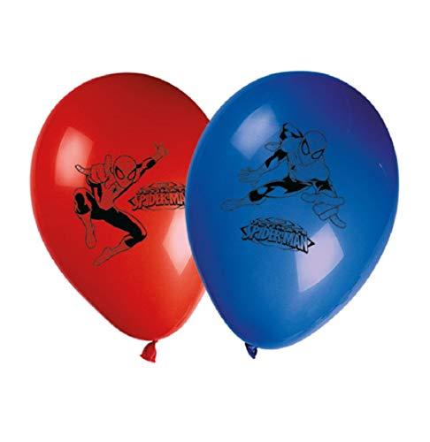 3066; 8 globos decorados ULTIMATE SPIDERMAN; ideal para fiestas y cumpleaños