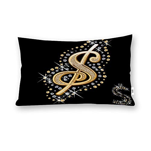 Perfecone Home Improvement - Funda de almohada (algodón, 50 x 75 cm), color dorado