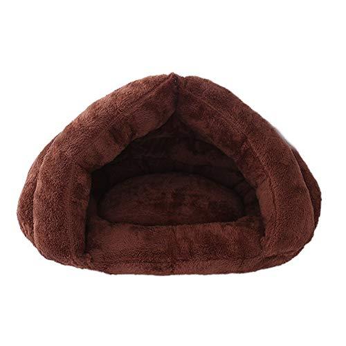 NAttnJf Suave cálido Cueva Forma requisitos de Animales de Peluche Perro Gato de Dormir de Cama de Cueva de Manta de Suave cojín con Capucha Calientes Mascotas Abastecimiento de Materiales