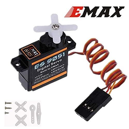 Redcolourful EMAX ES9051 Mini-motor van kunststof, motor 0,8 kg, koppel voor 3D-vliegtuigen, F3P