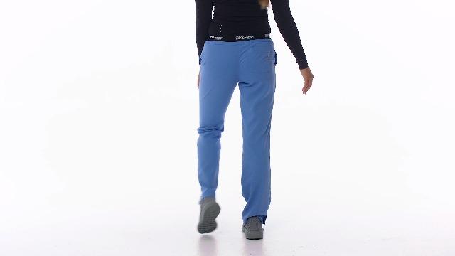 BARCO Grey's Anatomy Women's Aubrey Pant, Athletic Medical Scrub Pants w/ 3 Pockets & Elastic Drawcord Waistband