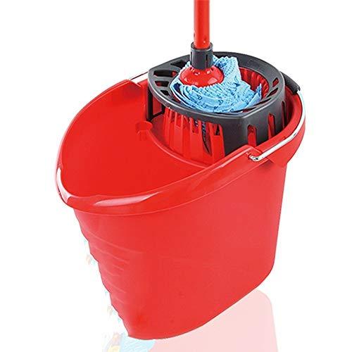 XWX Cubeta con exprimidor Duradero Squeeze Azul fregona Cabeza escurridor Cubo de Agua Cubeta