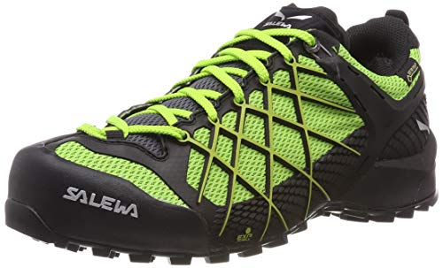 Salewa Herren MS Wildfire Gore-TEX Trekking- & Wanderstiefel, Black Out/Fluo Yellow 978, 42.5 EU