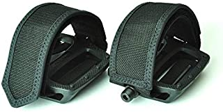 Wellgo New Fixed Gear Fixie BMX Pedal with Foot Strap - Solid Black