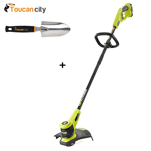 Sale!! Ryobi 18-Volt Lithium-Ion Electric Cordless String Trimmer 2.0 Ah Battery and Charger Include...
