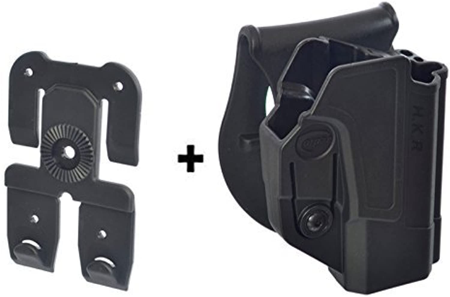 ORPAZ Defense Active Retention ajustment redO redation Tactical Paddle Holster + Molle Adapter Attachment for Heckler Koch H&K HK P30   USP Compact 9   .40   USP  45. 45C. BUL M5