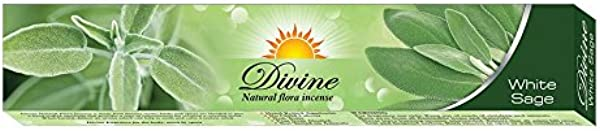 Divine Natural Flora Incense White Sage 15gramsx12packs With Tibetan Incense Burner