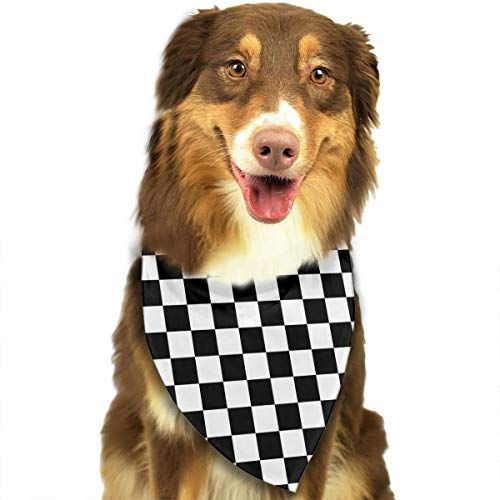 TMVFPYR Dog Bandana- Washable Dog Bandanas Checker Board Printing Dog Kerchief Set Scarf Accessories for Small to Large Dogs Cats Pets Reversible
