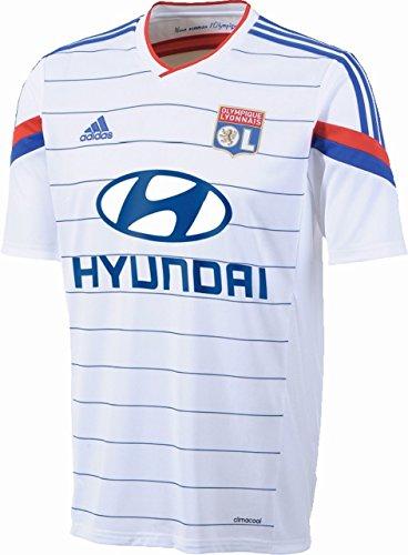 adidas Herren Trikot Olympique Lyon Replica Spieler-Heim, White/Collegiate Royal, XL