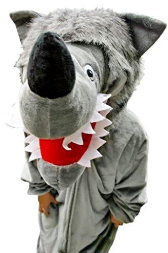 Seruna Wolf-Kostüm, F49 Gr. M-L, Fasnachts-Kostüme Tier-Kostüme, Wolfs-Kostüme Wölfe Kostüme Wolf-Faschingskostüm, Fasching Karneval, Faschings-Kostüme, Geburtstags-Geschenk Erwachsene