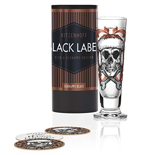 RITZENHOFF 1060247 Black Label Schnapsglas, Glas, 52 milliliters