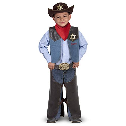 Melissa & Doug- Cowboy Role Play Costume Set Conjunto de Disfraces, Multicolor, única (4273)