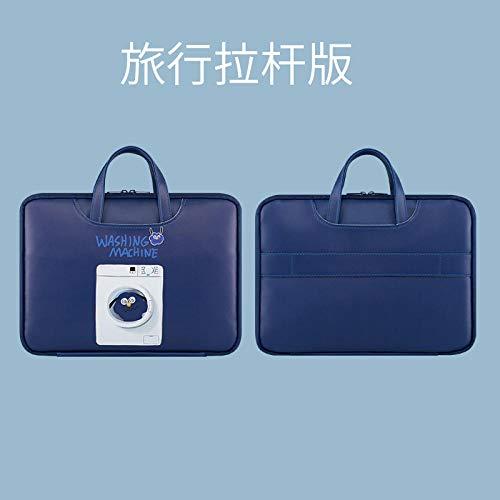 Laptop-Handtasche geeignet für Apple MacBook Xiaomi Air Lenovo Computer niedliche Liner Tasche weibliche tragbare kleine frische weibliche Mode-15,6 Zoll_Lustige Waschmaschine (Mauspad senden)