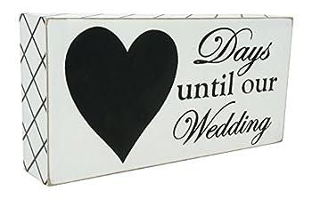 Rubies & Ribbons  Days Until Our Wedding Countdown Calendar Chalkboard Sign