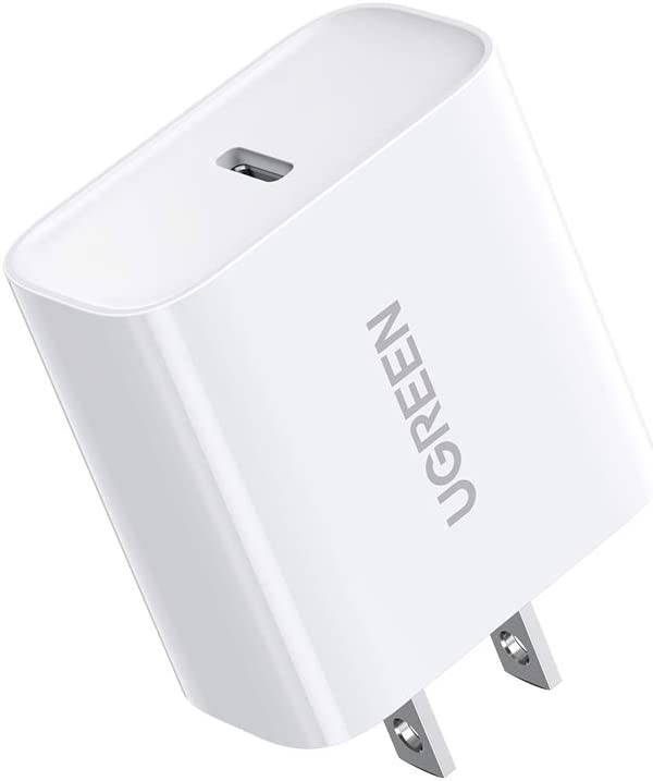 UGREEN 20W USB C Charger PD Fast Charger Block Type C Power Delivery Wall Charger Adapter Compatible for iPhone 12 Mini 12 Pro Max SE 11 Pro Max XR 8 Plus Pixel Samsung Galaxy S10 S9 LG iPad Pro