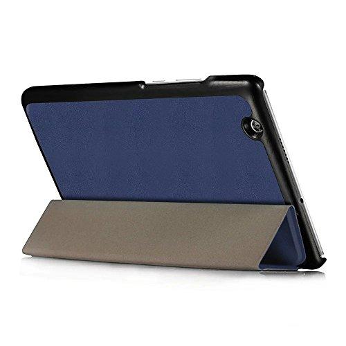 Kepuch Custer Huawei M3 8.4 Hülle - Shell Schutzhülle PU Tasche Smart Case Cover für Huawei M3 8.4 - Blau - 4