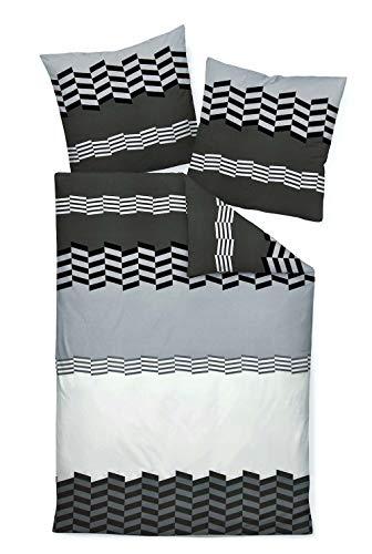 Janine Design Mako-Satin Bettwäsche J.D. 87011-08 Titan 1 Bettbezug 240 x 220 cm + 2 Kissenbezüge 80 x 80 cm