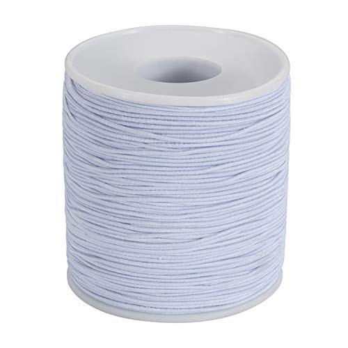 Stretchy Bracelet String, Elastic Beading Tread, Elastic Cord for Jewelry Making (1 mm, 164 Yards), Jewelry Cord Kandi String Crafting Cord Stretch String for Bracelet, Necklace and Beads – White
