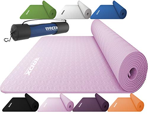 RDX Yoga Mat TPE 6mm Thick with Straps and Carry bag, REACH ROHS Certified, 6P Latex Free...