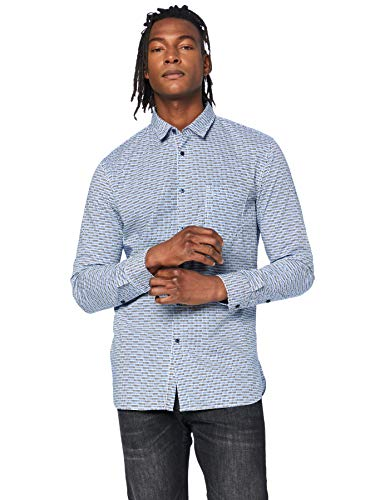 BOSS Mens Magneton_1 Shirt, Open Blue (460), XXL