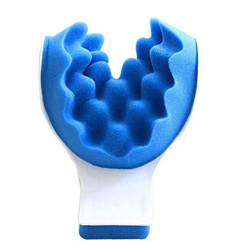Heall Almohada de Masaje quiropráctica Almohada tracción del Cuello de la Almohadilla del Massager del Cuello Relajante Muscular de Cuello Azul Relajante