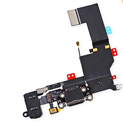 Best Shopper - Replacement for USB Charging Port Connector Headphone Jack Mic Flex Cable iPhone 5S