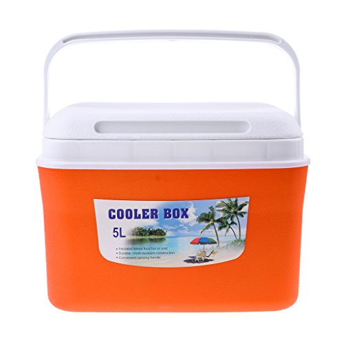 IPOTCH Camping kühlbox - Orange 5L
