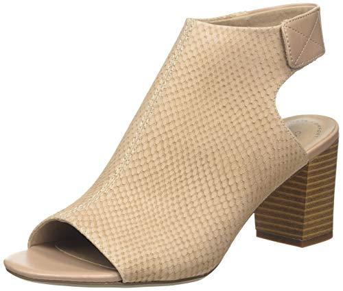 Clarks Deva Bell, Sandali con Cinturino alla Caviglia Donna, Beige (Sand Nubuck Sand Nubuck), 39 EU