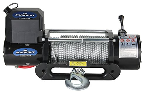 MotoAlliance VIPER Winch 12 VDC 8500lb/3856kg, Steel Hawse, Wireless Remote, STEEL Cable