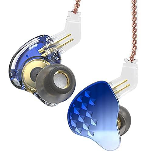 Yinyoo KBEAR Robin - Híbridos para Auriculares in-Ear (10 Unidades, 4BA+1DD, Auriculares de Doble Conductor IEM con 0,78 mm, Cable Desmontable de 2 Pines, para músico Adolescente