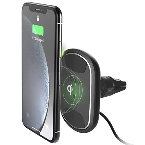 iOttie iTap 2 Wireless Magnetic Qi Wireless Charging Air Vent Mount || Compatible with IPhone XS XR X Max Samsung S10 S9  + Smartphones | + Dual Car Charger