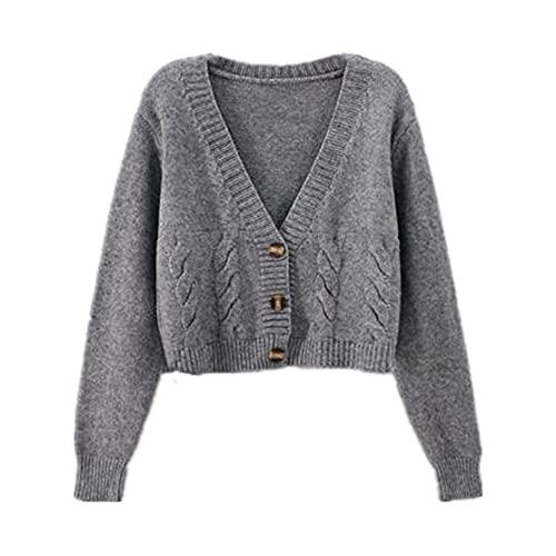 Mujer Suéteres Suéter De Las Mujeres Otoño De Un Solo-Breasted Chaqueta