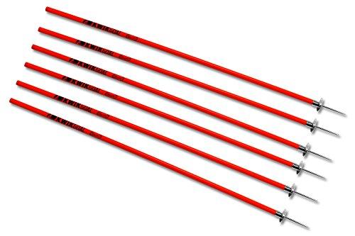 Kwik Goal Coaching Sticks (Red) ,60-Inch H x 1-Inch