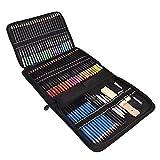 Odoukey 72 lápices de Colores lápices de Colores Conjunto de Suministros de bocetos para Colorear Libros de Escuela para el Artista Profesional Hijos Adultos