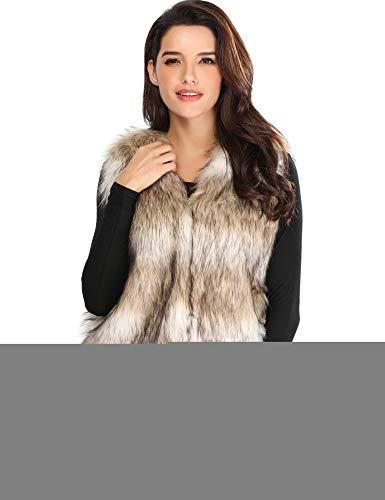 Caracilia Women's Faux Fur Waistcoat Vest