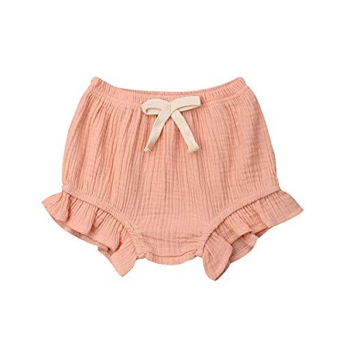 CHRONSTYLE Neugeborene Baby Mädchen Jungen Baumwolle Leinen Mischung Hosen Shorts Bottoms Bloomer Shorts (z7, 70)