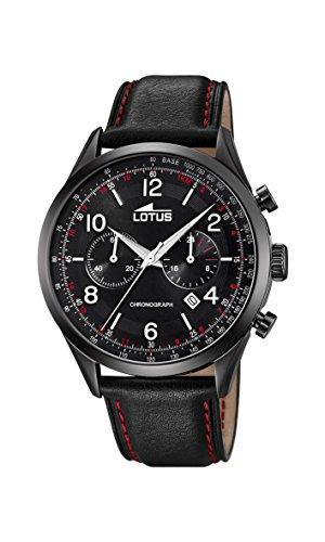 Lotus Watches Reloj Cronógrafo para Hombre de Cuarzo con Correa en Cuero 18559/1